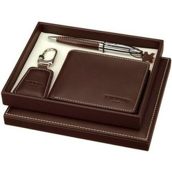 Brown Leather Executive Corporate Gift Set