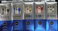 Micro, C type and I phone port Electric 360 degree Usb Cable, For Mobile Phone, Cable Size: 180CM