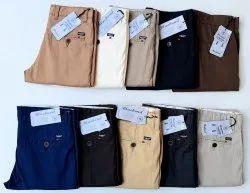 Slub Lenin Cotton Trousers Blue Bond