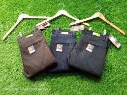 3 Colour Regular Fit Mens Cotton trousers