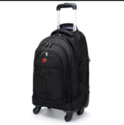 Handcuffs Polyester Backpack With Trolly, Number Of Compartments: 6, Bag Capacity: 30 Liters