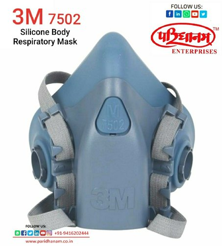 3M Half Face Mask 7502, Inorganic Gas