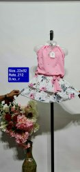 R Pink Kids Skirt Top