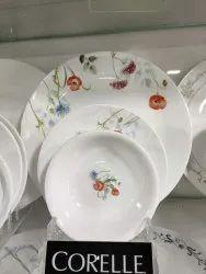 Corelle Dinnerware Set, For Home, Quantity Per Pack : 30 Pcs, Material: Glass ,