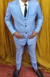 Ashiq Jain Blue Mens Formal Suit
