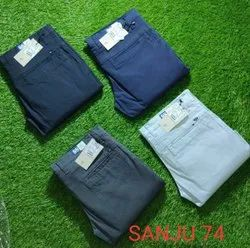 Narrow BLOND Cotton Trousers For Men