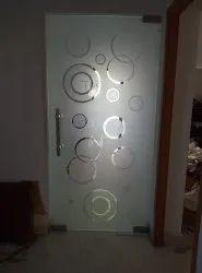 Saint Gobain Hinged Interior Toughened Glass Door, Thickness: 12 Mm