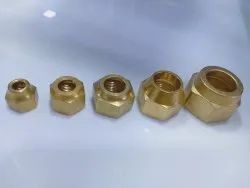 RE Hexagonal Brass Flair Nut, For Air conditioner, Available Thread Size: Unf