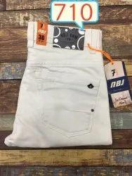 Plain Mwn Men White Jeans