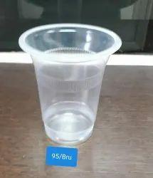 Transparent Plain Disposable Plastic Glass