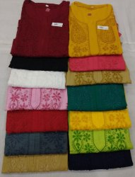 Multicolor Casual Wear Bell Sleeve Kurti, Wash Care: Machine Wash