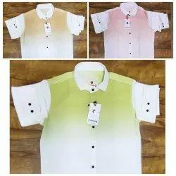 Collar Neck Casual Dual Shade Shirts