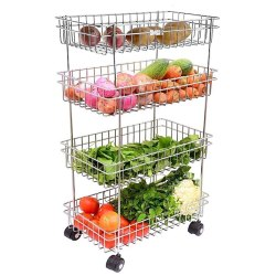 Swara Silver Vegetables And Fruits Basket, For Home, Size: 9x16x21