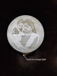 Made By 3d Printing Technology Moon Lampcustomised Photo Moon Lamp
