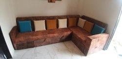 Modern L Shape Sofa Cum Bed, Living Room