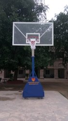Basketball Pole Movable Non-Height Adjustable