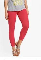 Pink 4 Way Ankle Length Ladies Leggings, Size: XL