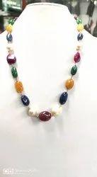椭圆形Navratna珠套,为制造珠宝
