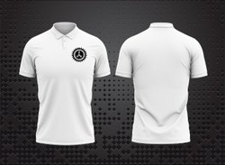 AKSHAY SPORT Polyester 130 Gsm White T Shirt