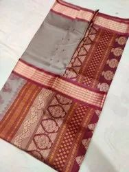 Resham Weaving Bomkai Silk Saree