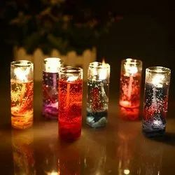 Glass Gel candle