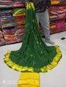 Pure Georgette Shibori And Bandhej Saree