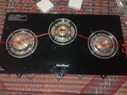 Khaitan Fully Automatic 3 Burner Gas Stove