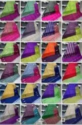 Party Wear Plain Pure Handloom Banana Pith Silk Sarees, 5.3mtrs,without blouse