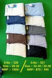 Jeans & Trousers Multicolor Kids Boy Cotton Trouser, Size: 22-40