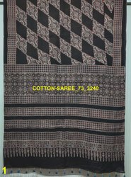 Mulmul Cotton Ajrakh Hand Block Print Sarees