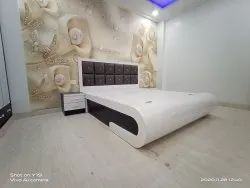 Modular Wooden Double Bed