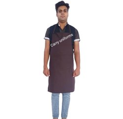 Brown Chef Apron, For Kitchen Usage, One Pocket
