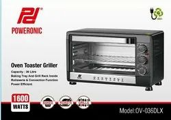 Poweronic OV-036DLX Oven Toaster Griller OTG, For Personal, 1600