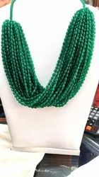 Green Onyx Faceted Drops
