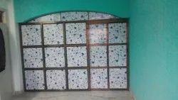Color Coated Aluminium Main Door, For Home