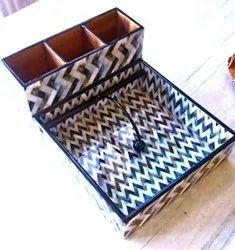 MDF Printed Wooden Tissue Holder, For Restaurant