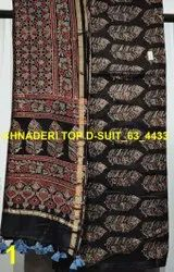 Ajrakh Chanderi Silk 2 Pcs Suit Materials