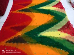 Hand Work Saree, With blouse piece, 6.3 Meter