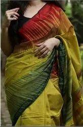 Handloom Cotton Silk Ikkat Sarees