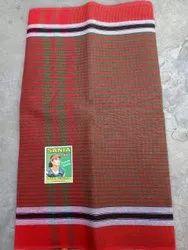 Stripped Cotton Sania check Gamcha, 450-550 GSM, Size: 31 Inchx66 Inch