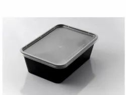 750ml Black Rectangular Container