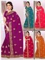 Heavy Lace Border Saree