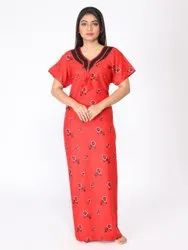 Multicolor Rayon Gown