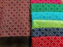 Wedding Wear Printed Semi Raw Silk Sarees, With Blouse