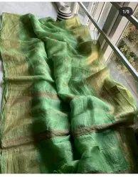 Silk Linen Floral Weaving Sarees