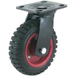 6 x 2 solid rubber wheel swivel type
