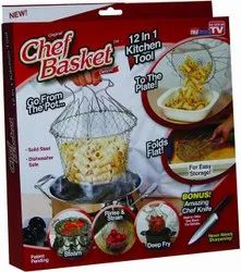 Stainless Steel chef basket, For Hotel/Restaurant, Size/Dimension: 23*23*13 cm