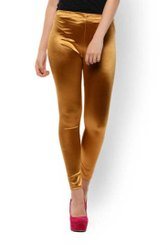 Straight Fit Plain Ladies Silk Satin Legging, Size: Free Size