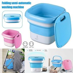 Chinese Pink Portable Folding Washing Machine, Capacity: 2 Kg