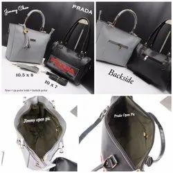 Brown Printed Ladies Bags